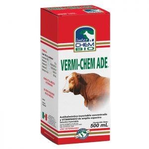 Vermichem ADE, Medicina para ganado Antihelmíntico de amplio espectro concentrado y vitaminado